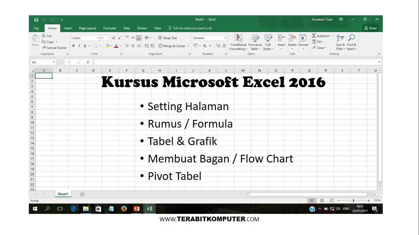 Kursus Microsoft Excel 2016