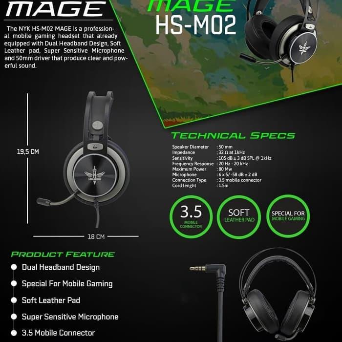 Headset Gaming NYK HS-M02 Mage