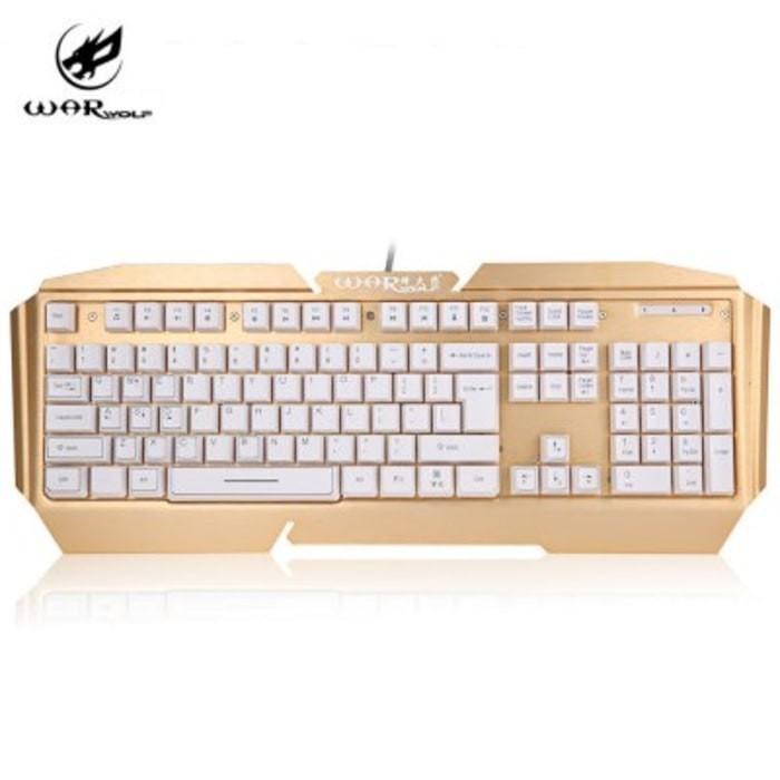 Keyboard Gaming Warwolf K5 Semi Mechanical Aluminium