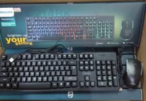 Paket Keyboard Gaming Philips SPT6214BK Momentum