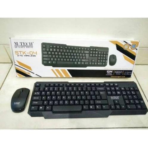 Keyboard Mouse Gaming MTech STK04 Wireless