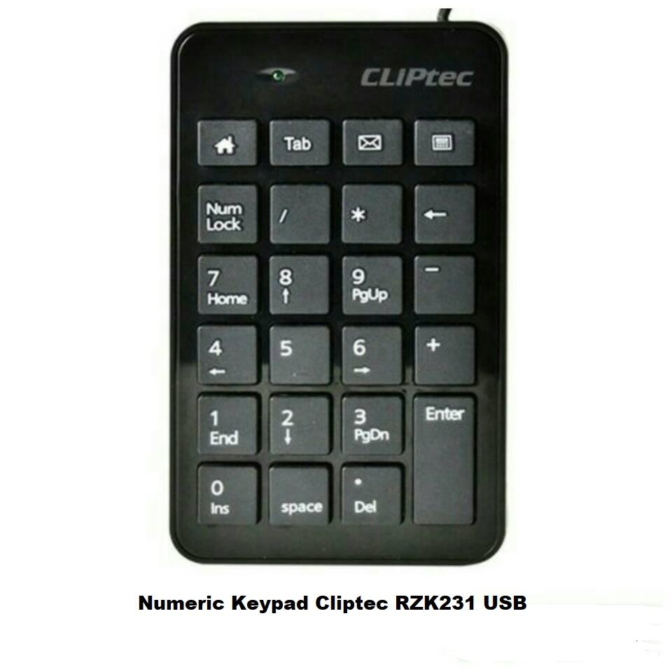 Numeric Keypad Cliptec RZK231 USB