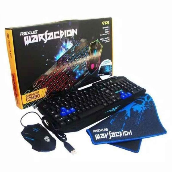 Paket Keyboard Gaming Rexus VR1 Warfaction